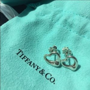 Tiffany open heart Elsa collection earrings
